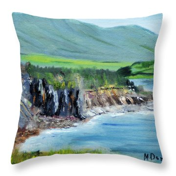 Cabot Trail Coastline Throw Pillow
