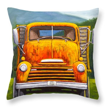 Cabover Truck Throw Pillow