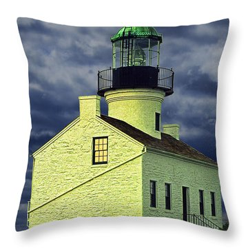 Cabrillo National Monument Lighthouse No 1 Throw Pillow by Randall Nyhof
