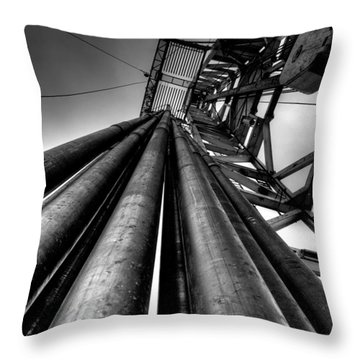 Drilling Rig Throw Pillows