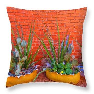 Cacti Quartet Throw Pillow