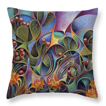 Cactus Dinamicus Throw Pillow