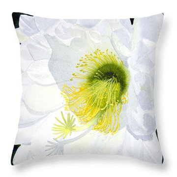Cactus Flower II Throw Pillow
