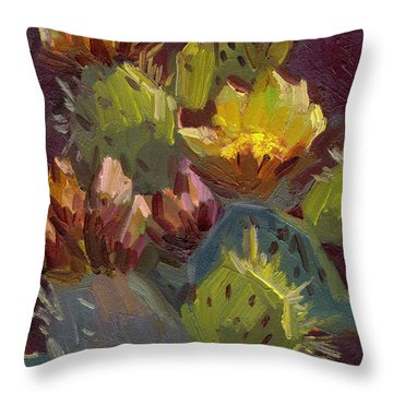 Cactus In Bloom 1 Throw Pillow