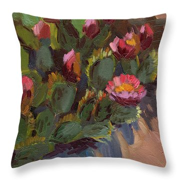 Cactus In Bloom 2 Throw Pillow