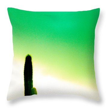 Cactus In The Morning Throw Pillow by Yo Pedro
