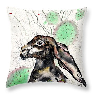 Cactus Jack Throw Pillow by Bill Searle
