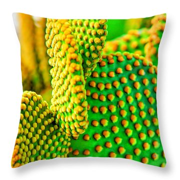 Cactus Leaf Throw Pillow