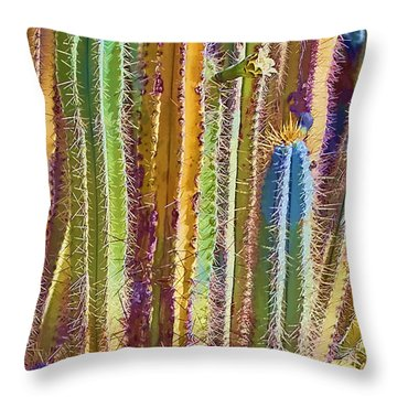 Cactus Throw Pillow by Marcia Colelli