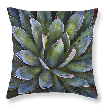 Throw Pillow featuring the photograph Cactus  No. 1  ... by Chuck Caramella