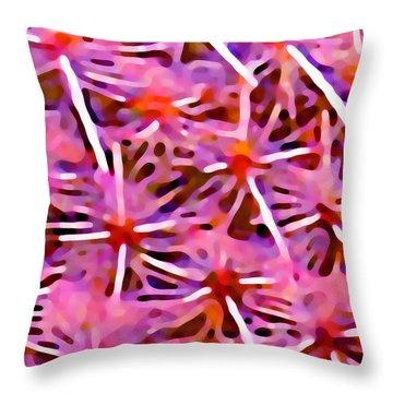 Cactus Pattern 2 Pink Throw Pillow by Amy Vangsgard