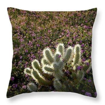 Cactus Surprise Throw Pillow