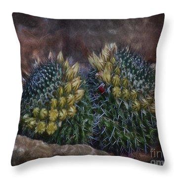 Cactuses  ... Throw Pillow by Chuck Caramella