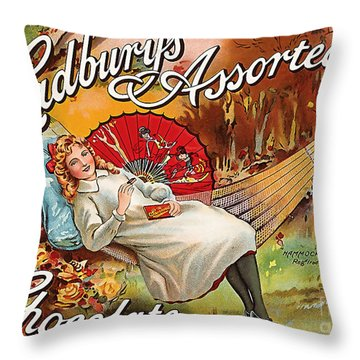 Cadburys Assorted Chocolate Throw Pillow
