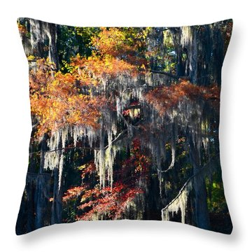 Caddo Lake 40 Throw Pillow