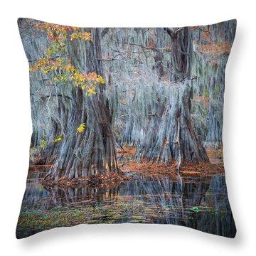 Caddo Lake Throw Pillows