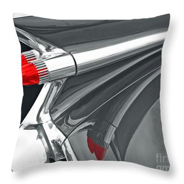 Caddy Classic Black And White Throw Pillow