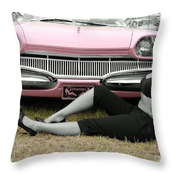 Caddy With Curves Throw Pillow