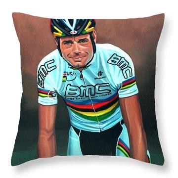Cadel Evans Throw Pillow by Paul Meijering