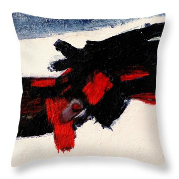 Throw Pillow featuring the painting Cadence by Jim Whalen
