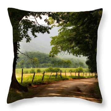 Cades Cove Loop Throw Pillow