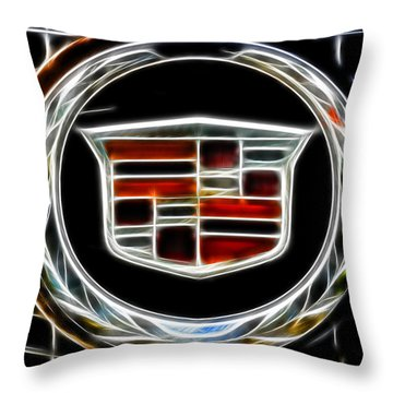 Cadillac Emblem B Throw Pillow