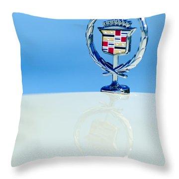 Cadillac Hood Ornament 4 Throw Pillow