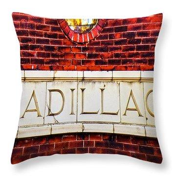 Cadillac Throw Pillow by LeeAnn McLaneGoetz McLaneGoetzStudioLLCcom