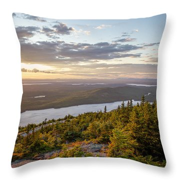 Throw Pillow featuring the photograph Cadillac Mountain Sunset  by Trace Kittrell