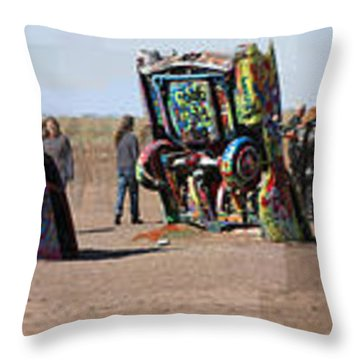 Cadillac Ranch Horizon Throw Pillow