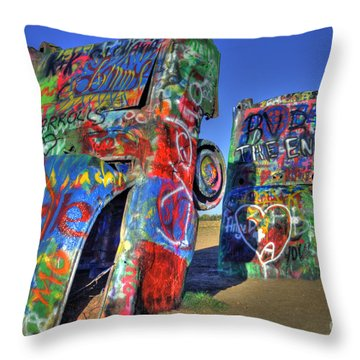 Cadillac Ranch Throw Pillow