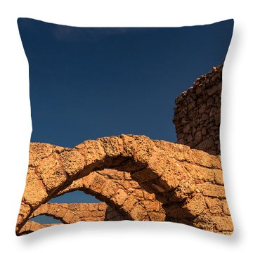 Caesarea Throw Pillow by David Gleeson
