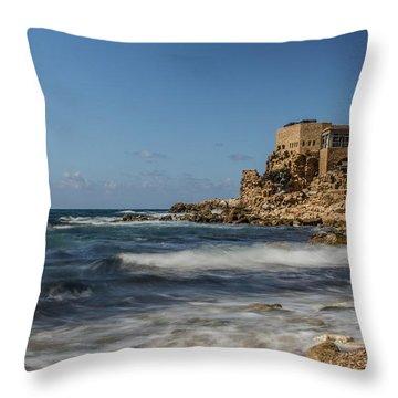 Caesarea Maritima Throw Pillow