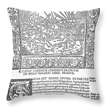 Caesar's Commentaries Throw Pillow