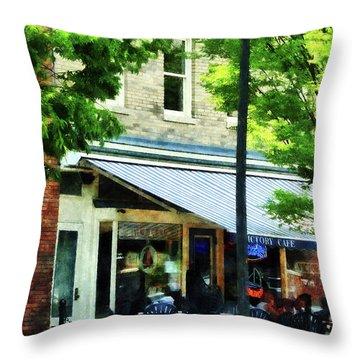 Cafe Albany Ny Throw Pillow by Susan Savad