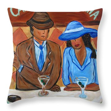 Cafe Americana Throw Pillow by Victoria  Johns