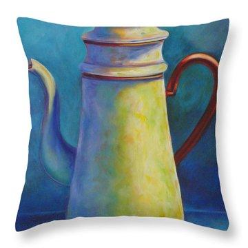 Cafe Au Lait Throw Pillow by Shannon Grissom