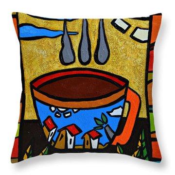 Cafe Criollo  Throw Pillow