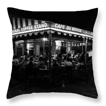 Cafe Du Monde Throw Pillow