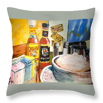 Cafe Espresso Tableart Throw Pillow