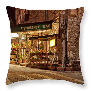 Brick Sidewalks Throw Pillows