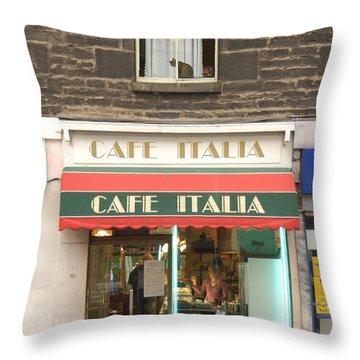 Cafe Italia Throw Pillow by Mike McGlothlen