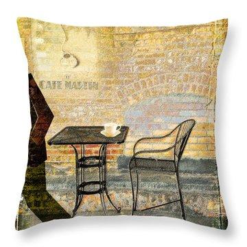 Cafe Martin Throw Pillow