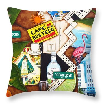 Cafe Miami Throw Pillow