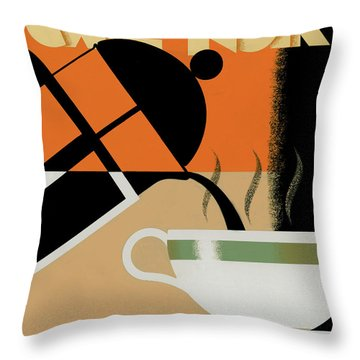 Cafe Noir Throw Pillow