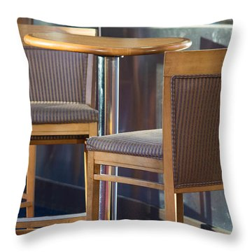 Throw Pillow featuring the photograph Cafe by Patricia Babbitt