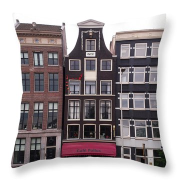 Cafe Pollux Amsterdam Throw Pillow