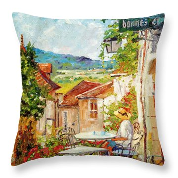Cafe Provence Morning Throw Pillow