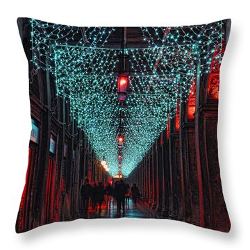 Caffe Florian Venice Throw Pillow by Graham Hawcroft pixsellpix