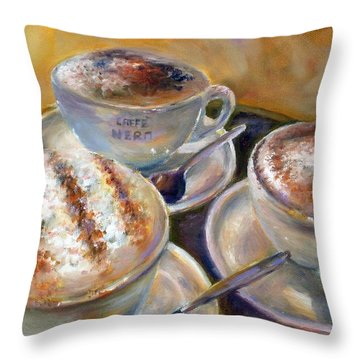 Caffe Nero Throw Pillow